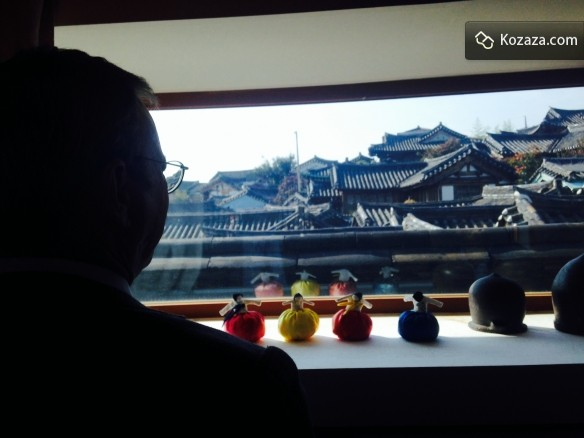 Eric looking at the view of Bukchon Hanok VIllage