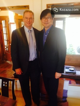 Eric with Dr. Jo, Ceo of kozaza at the Hanoksty